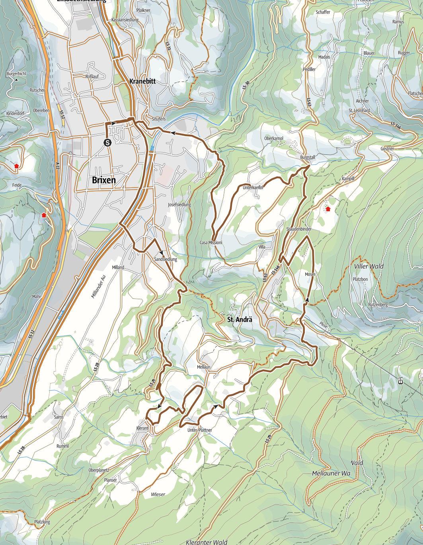 Dörferrunde mit Technikübungen Karte